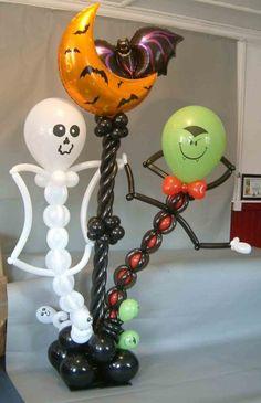 Fun Halloween Balloon Design Ideas for Party Decoration Halloween Balloons, Fete Halloween, Holidays Halloween, Halloween Crafts, Halloween Decorations, Halloween Globos, Ballon Decorations, Balloon Centerpieces, Shower Centerpieces