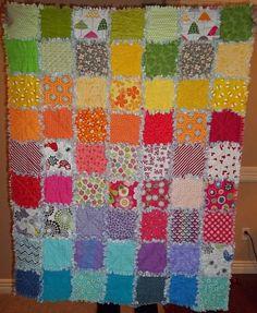 rag quilt ideas   Rainbow Rag Quilt   Potentially GREAT Ideas...