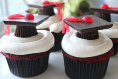 muffins dekorieren abitur cupkace deko hut