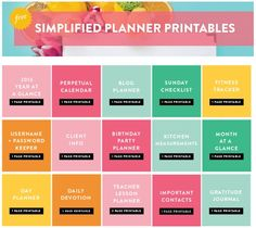 Emily Ley | Free Simplified Planner Printables