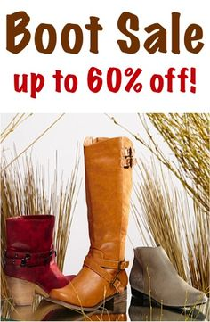 Boot Sale ~ up to 60% off!! #boots