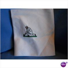 Gent's White Cotton Hankie with Lawn Bowls motif - new and unused - #Charity sale on #eBid United Kingdom