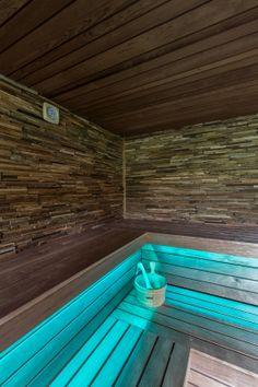 Sauna met led verlichting