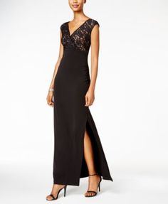 Connected Lace V-Neck Gown $70.99 You'll be the belle of ball in this absolutely stunning gown from Connected.
