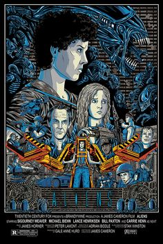 "Aliens - Aaron Haynes ---- Art featured in Hero Complex Gallery's ""Imagined Worlds 2"" -- tribute to Spielberg, Jackson, Nolan, Carpenter, and Cameron (2014-10)"