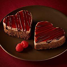 Chocolate Raspberry Cheesecake Hearts. Bake a Cake. Melt a Heart. #ad
