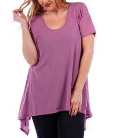 Another great find on #zulily! Lilac Sidetail Tee - Plus #zulilyfinds