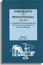 Emigrants to Pennsylvania, 1641-1819