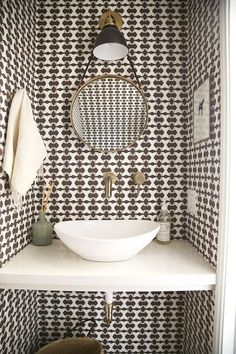 Friday Inspiration  Our Top Pinned Images — STUDIO MCGEE Wallpaper Toilet fb6e115d48