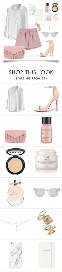 """Pink shorts"" by anaraquellinares ❤ liked on Polyvore featuring Chicwish, Liliana, LULUS, Perricone MD, LORAC, Fresh, Calvin Klein, Sun Buddies, Topshop and Kate Spade"