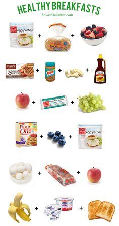 Healthy Breakfast Ideas via How I Waste Time