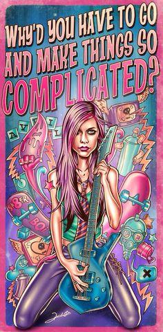 Avril Lavigne - Complicated song lyrics