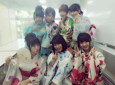 Mion Mukaichi・Yuria Kizaki・Rena Kato・Mako Kojima・Juri Takahashi・Yui Yokoyama・Nana Owada #AKB48 #SKE48 #NMB48 #kimono #着物