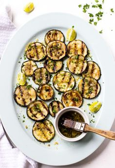Lemon Garlic Grilled Zucchini Recipe | This healthy zucchini recipe takes a little planning ahead, but it is so worth it!