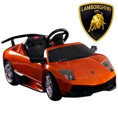official 12v orange lamborghini murcielago sv ride on car 25995 kids electric cars
