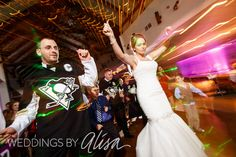 Bride and groom at their Pittsburgh themed wedding by Weddings by Alisa, Pittsburgh Wedding Photographer