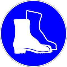 Science Laboratory Safety Signs: Blue Protective Footwear Sign