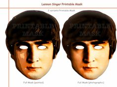 Unique John Singer Printable Masks, costumes, musician, pop Star mask, singer party, birthday, photo booth props, celebrity, Beatles