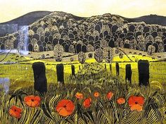 'Poppies and Downs, No 3' by Robert Tavener