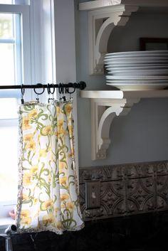Flower Patch Farmgirl: Napkin Curtains - Redux