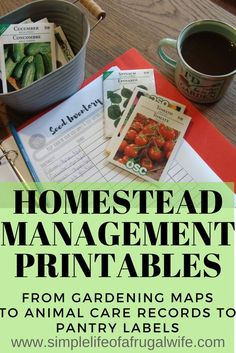 List of free printables for your homestead. Get organized on your homestead with these printables!