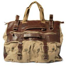 Belstaff - Leather-Trimmed Canvas Holdall Bag Barbour Bags 067c61fe88808