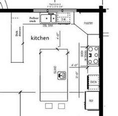 Great kitchen floor plan. | Kitchen Layout Ideas | Pinterest ...