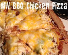 Weight Watcher's BBQ Chicken Pizza!