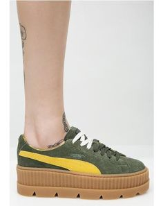 b984c8f166037e Pine FENTY PUMA By Rihanna Cleated Suede Creepers (scheduled via http   www