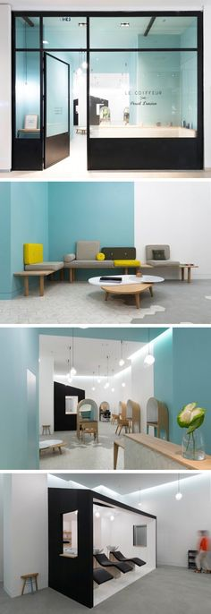Margaux Keller in association with architect Bertrand Guillon, have designed Le Coiffeur, a hair salon located in Marseille, France.