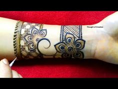 Stylish Simple Mehndi Design for Front Hand