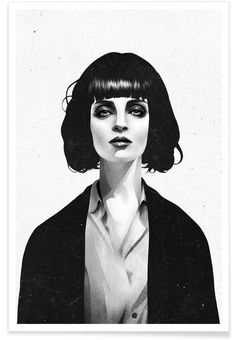 Mrs Mia Wallace als Premium Poster von Ruben Ireland   JUNIQE