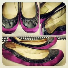 New! Lanvin magenta satin & black patent leather ballet flats sz 9... #lanvin #shoes #lanvinflats #fashion #couture #consignment #tribeca #nyc #nyfw - @resaleriches- #webstagram