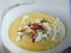There's a lot of goodness and a lot of flavour in this hearty vegetable soup. The onion - crisped, with cumin and mustard seeds - provides the spice as a final touch. #IdeasKitchen #HealthKick recipes