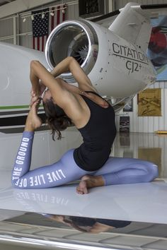 These leggings are the perfect gift for every aviation enthusiast! And the text on the side, Live Life Off the Ground , is something they'll love.