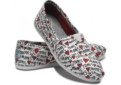 Mother's Day White Classic Toms