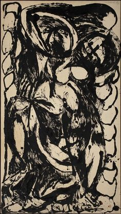 'Pollock was addicted to alcohol for most of his adult life. It was only after marrying fellow painter Lee Krasner, moving out of New York and finding a doctor who could help him kick the drink that he entered his golden period.' (Jones, 29/6/15).