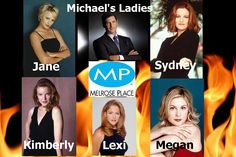 Michael's Ladies of Melrose. (Another creation by me) Melrose Place, Lady Jane, Beverly Hills, Tv Series, Film, Movie, Film Stock, Cinema, Films