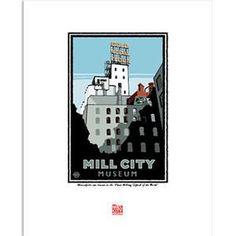 Minnesota Landmark Prints – Page 2 – Minnesota Historical Society Mn Artists, Minnesota Historical Society, Travel Posters, City Museum, Art Prints, Paper, Illustration, Design Ideas, Study