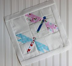 The first block in the quilt-a-long is the Dragonfly Block. I had originally planned on the light gray dots, but when I saw how many pieces the block had, I […] Bird Quilt Blocks, Big Block Quilts, Patchwork Quilt Patterns, Scrappy Quilts, Crazy Patchwork, Patchwork Fabric, Patchwork Designs, Mini Quilts, History Of Quilting
