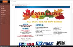 DID YOU KNOW...... that Express is having a Job Fair?!  Fall in to a new job with EXPRESS! We are #HIRING!  Our Fall #JobFair is occurring at the Express office in Oxnard! There will be games to play, prizes to win, and yummy food to eat! Come to interview and talk with the Express staff!  Our Express offices are staffing for numerous positions throughout the #VenturaCounty! Come to interview and talk with our staffing consultants about all our open positions!