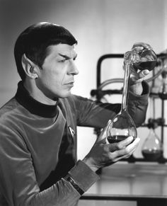Early publicity photo of Mr. Spock