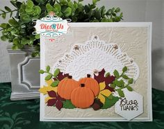 Thistle Bouquet, Impression Obsession, Fall Bouquets, Anna Griffin, Fall Cards, Gift Certificates, Color Card, My Stamp, Give Thanks
