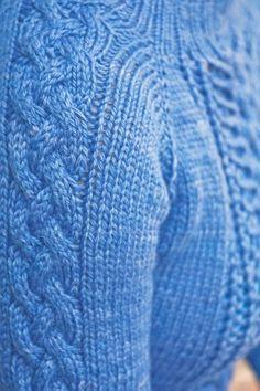 strikkegenser knitting cables sweater