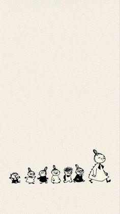 Moomin Wallpaper, Cartoon Wallpaper, Cartoon Pics, Cute Cartoon, Little My Moomin, Moomin Cartoon, Tove Jansson, Tumblr Backgrounds, Love Illustration