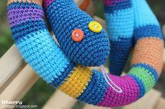 Starry... Девушка творческая: Змея по прозвищу Ползучка / Crocheted snake