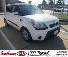 Happy Anniversary to James Pullen on your 2013 Kia Soul from Christopher Meregini and everyone at Southwest Kia Mesquite!