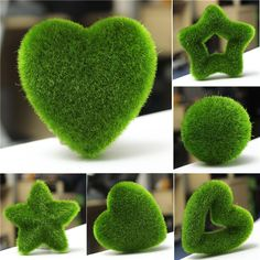 1 Pcs atacado rústico fresco Artificial musgo verde planta de bolas decorativas / decoração de festa de simulação em(China (Mainland))