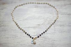 Wapped Loop/Sapphire Gradation Necklace   koaniani