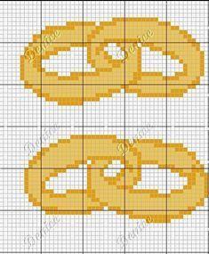 Cross stitch chart 30 VALENTINE rapido Stitch motivo grafici Romance Collection